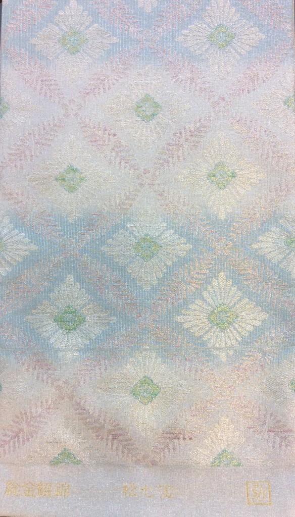 枡屋高尾 撚金綴れ袋帯 ブルー