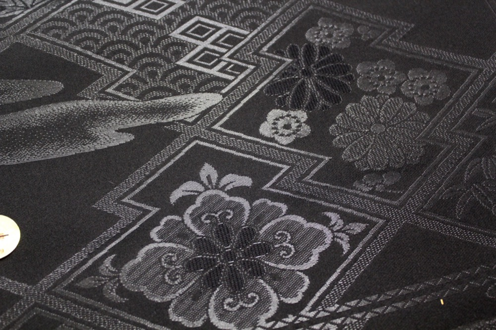 紋付用帯 喪服用帯 黒