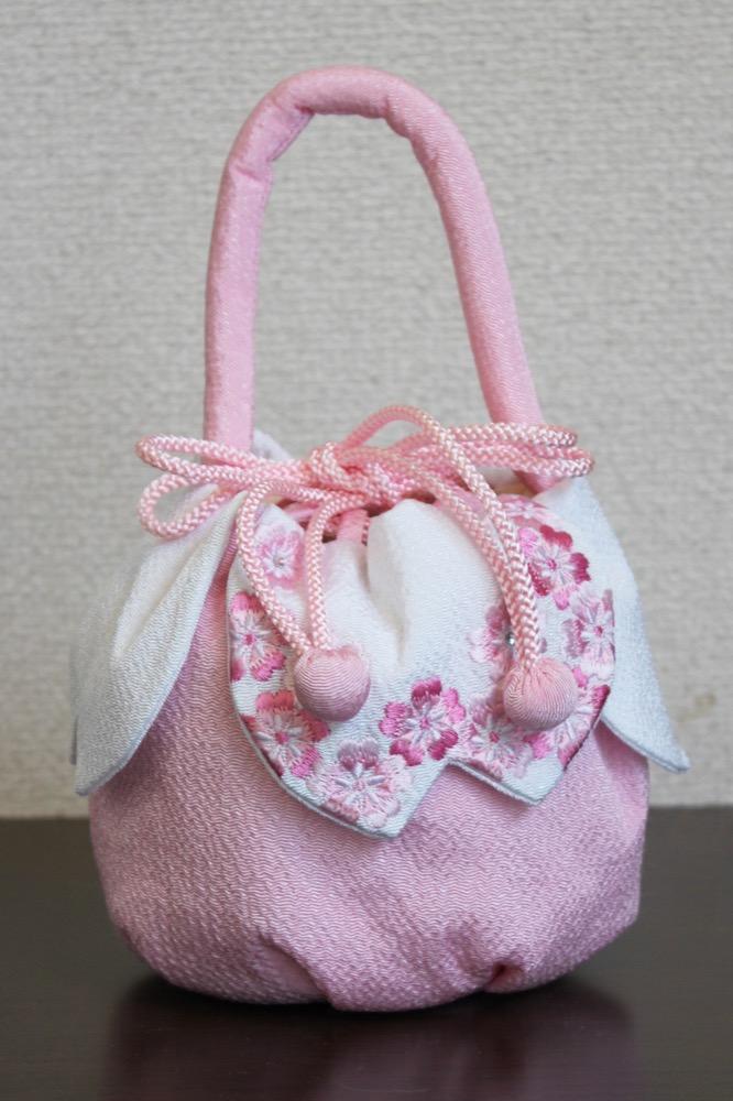 七五三 きんちゃく 桜 ピンク