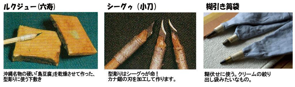 琉球紅型 道具