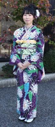 栗山吉三郎小紋、一粋庵袋帯