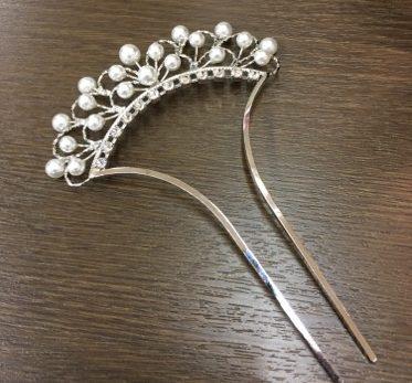 銀細工の髪飾り