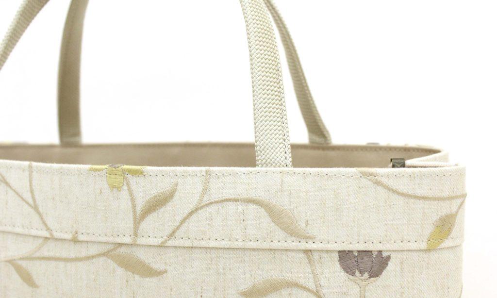トートバッグ A4 ママトート 刺繍 花柄 持ち手