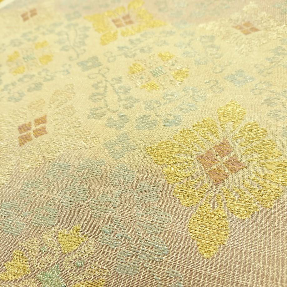 撚金綴れ袋帯